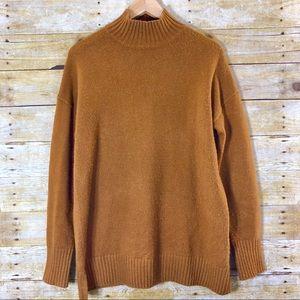 GAP Turtleneck Sweater Brown Mustard Size Small